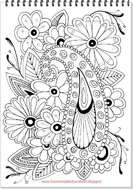 Nature 2bmandala 2bcoloring 2b 2 Nature Mandala Coloring