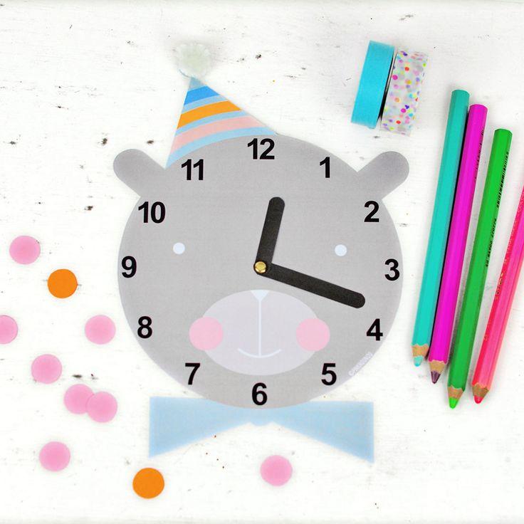 CUTE FREE PRINTABLE CLOCK FOR KIDS