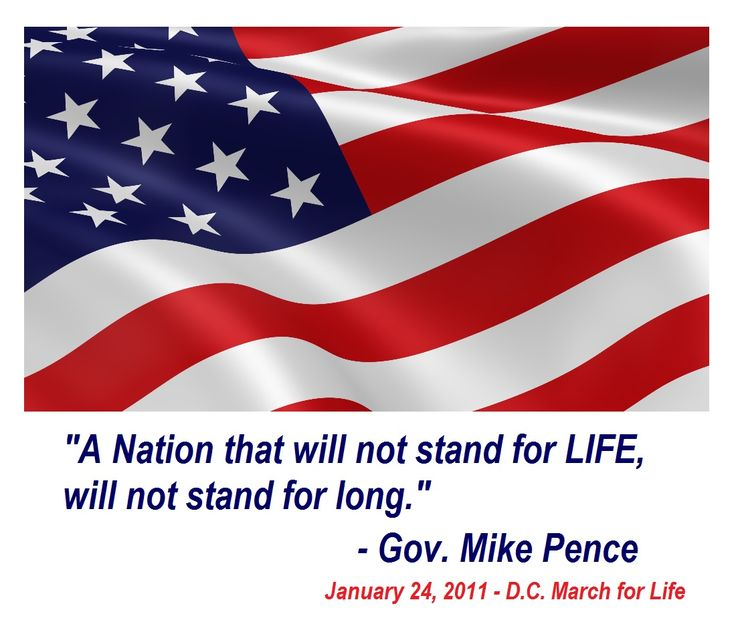 Gov. Mike Pence is #Prolife and speaks every year at the March for Life. This is a quote from 2011. https://youtu.be/p8nHo6k-PR8