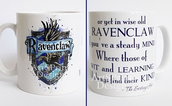 Harry Potter Mug, Ravenclaw Crest Quote Mug, Watercolor Art Cup, Coffee Mug  | Collectibles, Fantasy, Mythical & Magic, Harry Potter | eBay!