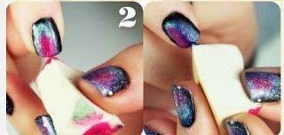Como pintar mis uñas con esponja ~ Belleza y Peinados
