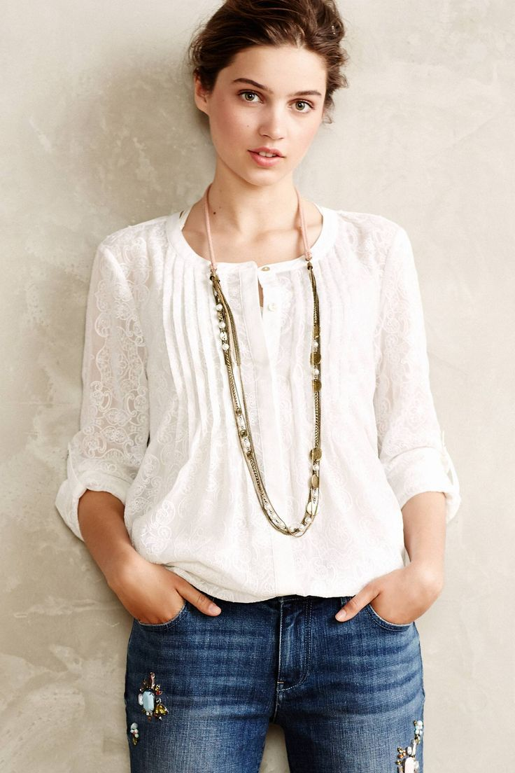 Willow Garden Buttondown - anthropologie.com