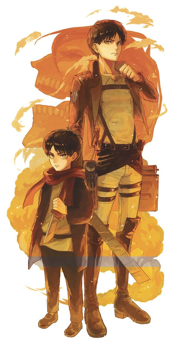 For a second I thought little Eren, was Levi. Then I realized it wasn't, then started laughing.