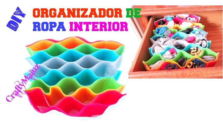 HAZ UN ORGANIZADOR DE ROPA INTERIOR | manualidades fáciles para organizar