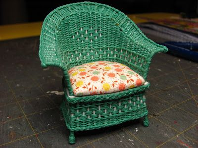 1 INCH SCALE WICKER CHAIR TUTORIAL   How To Make A 1 Inch Scale Wicker  Chair For Your Dollhouse. (Dollhouse Miniature Furniture   Tutorials