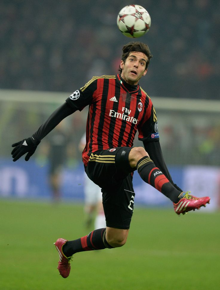 Kaká in action during the UEFA Champions League group H match between AC Milan and Ajax Amsterdam at Stadio Giuseppe Meazza on December 11, 2013 in Milan, Italy.