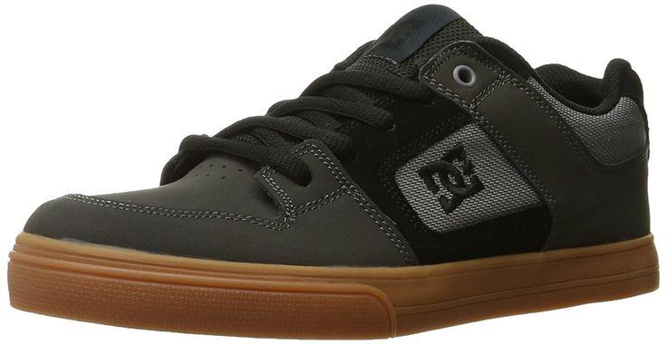 DC Pure Sneaker (Little Kid/Big Kid), Grey, 12 M US Little Kid