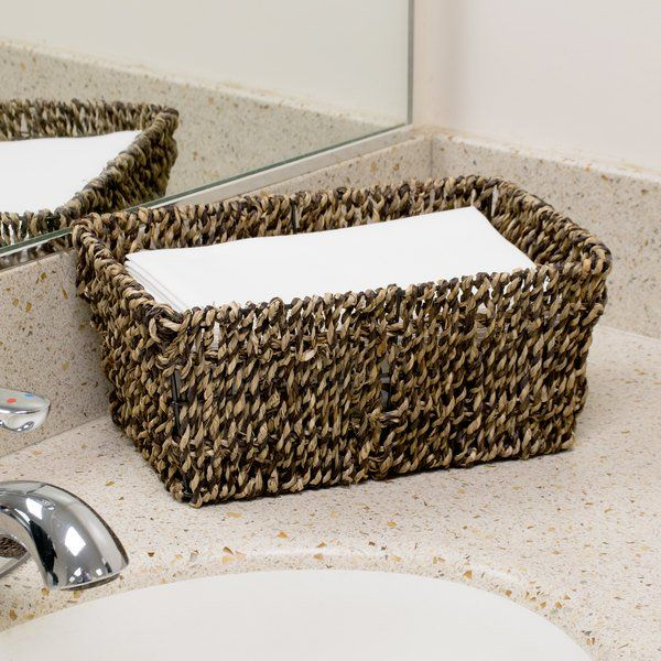 Hoffmaster Bsk2151 Seagrass Wicker Guest Towel Basket Holder Guest Towel Basket Towel Basket Guest Towel Tray