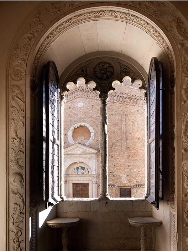 Urbino, a window of the Ducal Palace