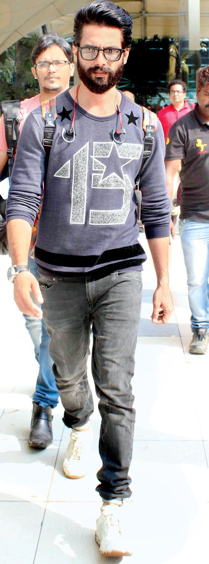 Indian actor Shahid Kapoor's stunning beard #Bollywood #Fashion #Style
