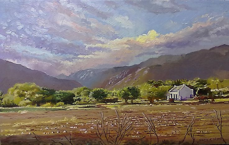 """""""Landscape in Prince Albert""""  500 x800mm ,oils& brush on canvas"""