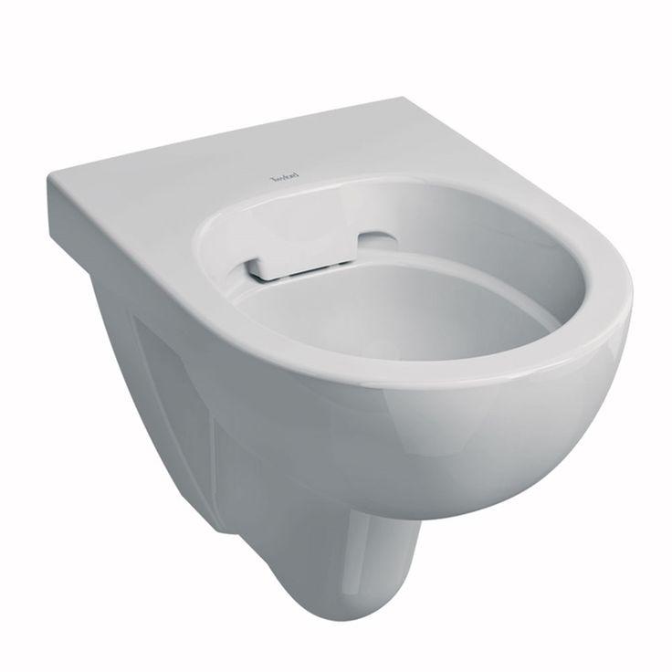 Twyford E100 Round Rimfree Wall Hung WC Pan