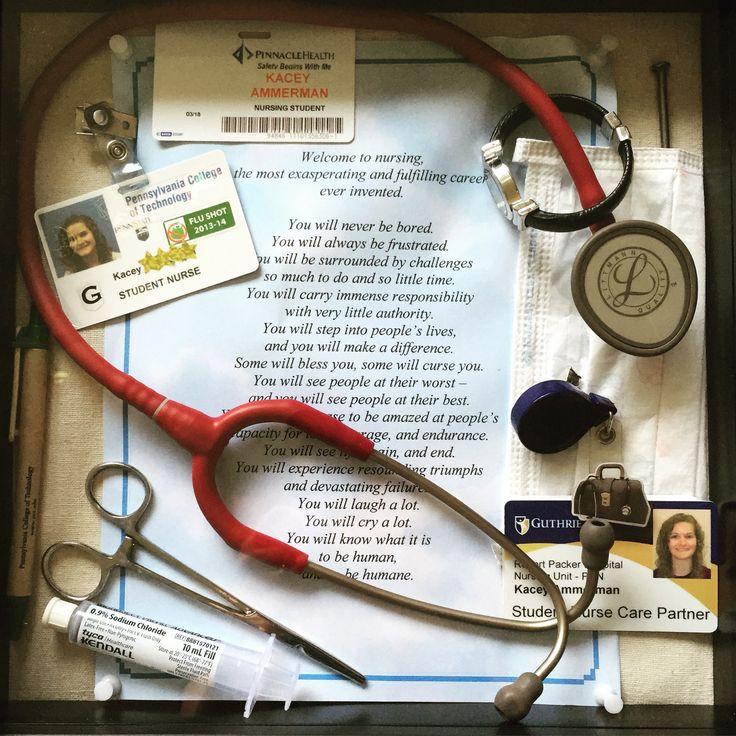 Nursing School Shadow Box. ❤️ #nursing #school #shadowbox #nursingschool