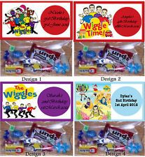 "Wiggles Personalised Birthday Party/Loot/Lolly Favour Bags& Toppers x 15 $8 on eBay but I think these would be pretty easy to make with the printer and some mini zip lock bags Could have it read ""thank you for wiggling at my party""?"