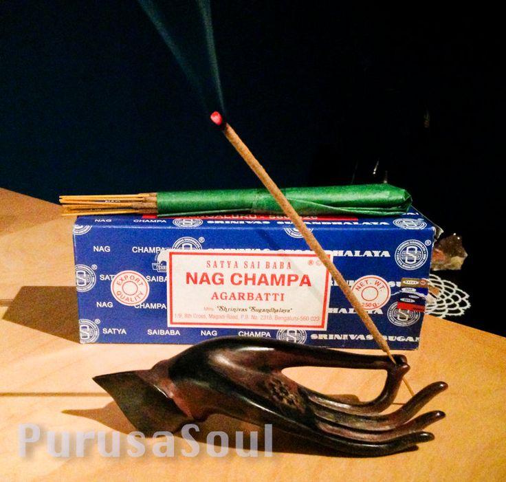 Nag Champa 12 Incense Sticks - Authentic Satya Sai Baba - Meditation Supplies by PurusaSoul on Etsy