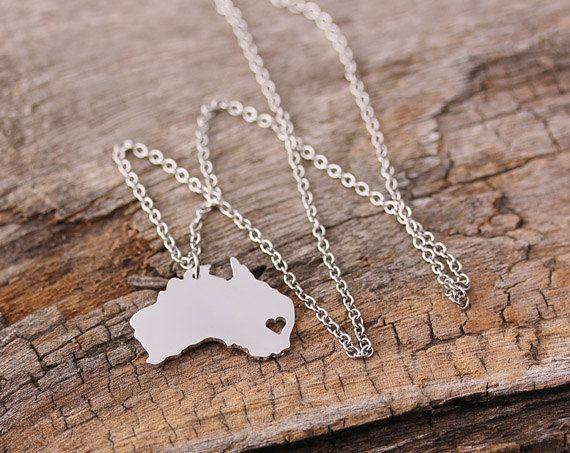 Ich Herz Australien-Kette Halskette Anhänger von aimeestore
