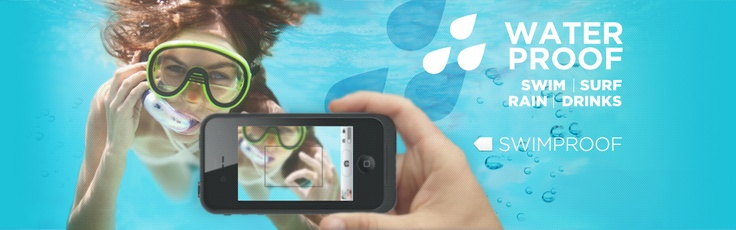 Water Proof iphone because now even underwater isn't safe from the long arm of technology.