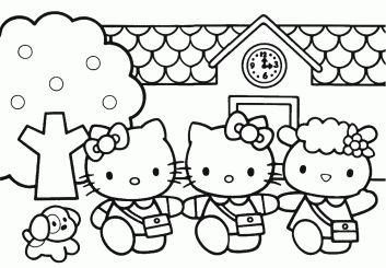 Gambar Mewarnai Hello Kitty Terbaru