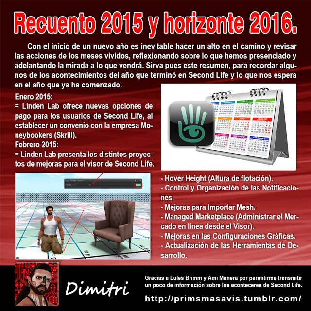 AMM Life & Style: AMM NUM 39 - RECUENTO 2015 Y HORIZONTE 2016 SECOND LIFE 01