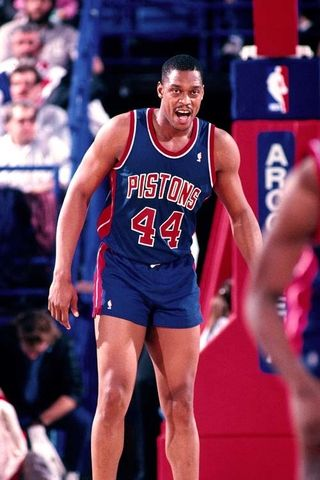 Rick Mahorn, a basketball star out of Hampton University who had a 19-year NBA career. Mahorn went on to win an NBA championship with the Detroit Pistons in 1989. He also played for the Nets for 4 years.  After retiring, he coached in the WNBA and now does play-by-play radio analysis for the Pistons.