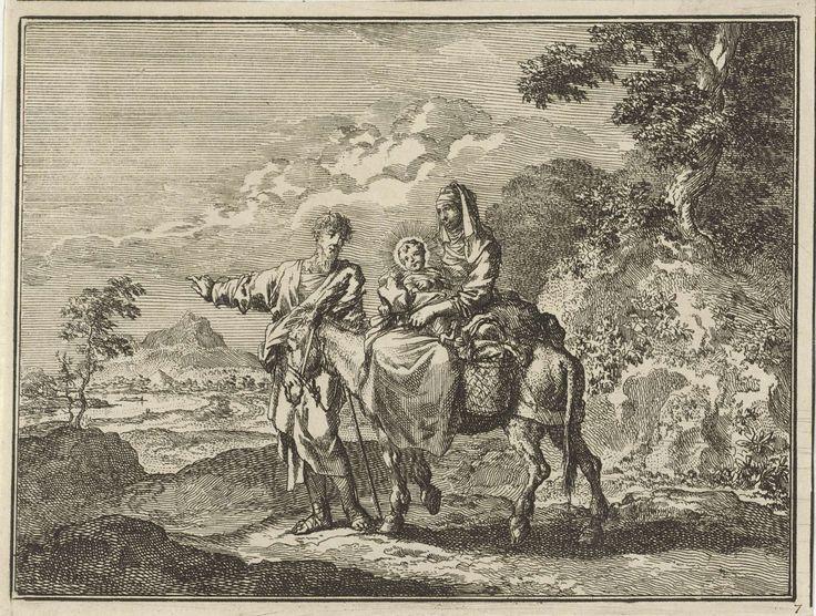 Jan Luyken | Vlucht naar Egypte, Jan Luyken, 1712 |