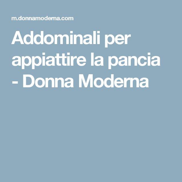 Addominali per appiattire la pancia - Donna Moderna