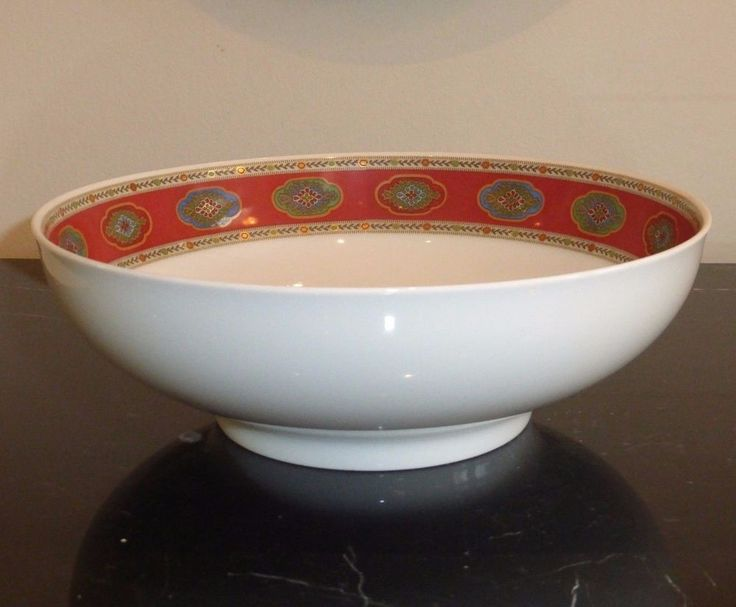 "Rosenthal Belgravia Nina Campbell Serving Bowl Classic Germany Pearl 8 7/8"" Wide #Rosenthal"