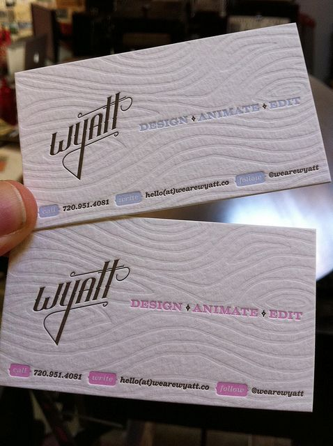 137 best business cards letterpressed or debossed images on letterpress business cards wyatt by smokeproof reheart Choice Image
