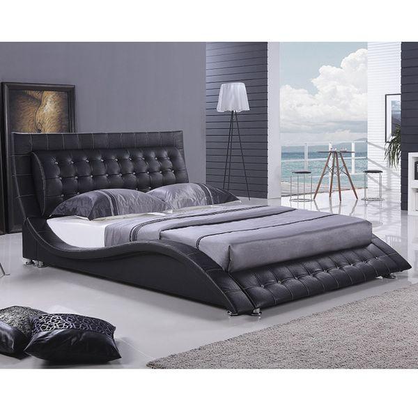 Black Platform Bed Part - 50: Dublin Modern King Size Black Platform Bed | Overstock.com