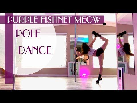 Purple Fishnet Meow In Pleaser Boots : Pole Dance - YouTube