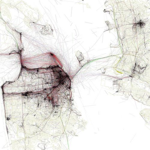 SF, Beauty in Vectors: beautiful line work dataviz by eric fischer, via straup