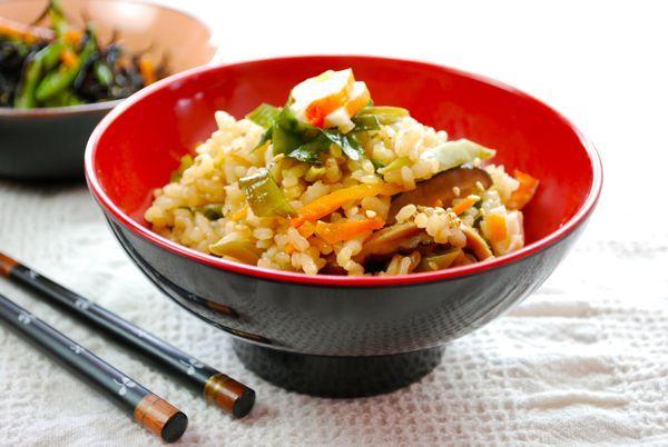 Arroz guisado con alga wakame, Gohan Wakame, receta japonesa