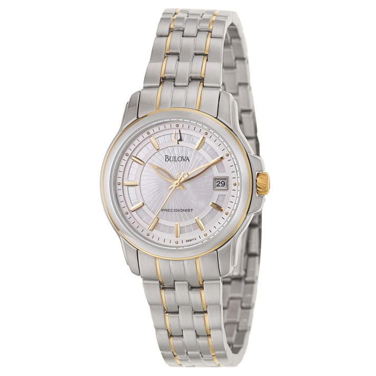 Bulova Women's 98M112 'Precisionist Langford' Yellow Gold-Plated Stainless Steel Watch | Overstock™ Shopping - Big Discounts on Bulova Bulov...