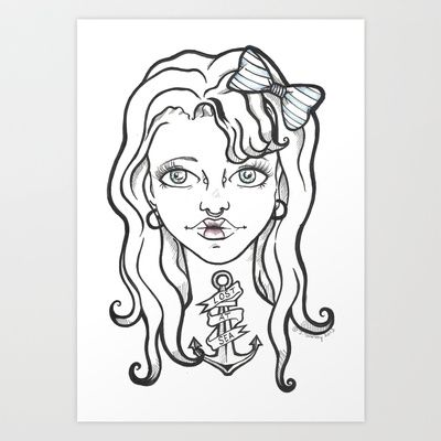 """Lost+at+Sea""+Art+Print+by+NeonStarr+-+$17.68"