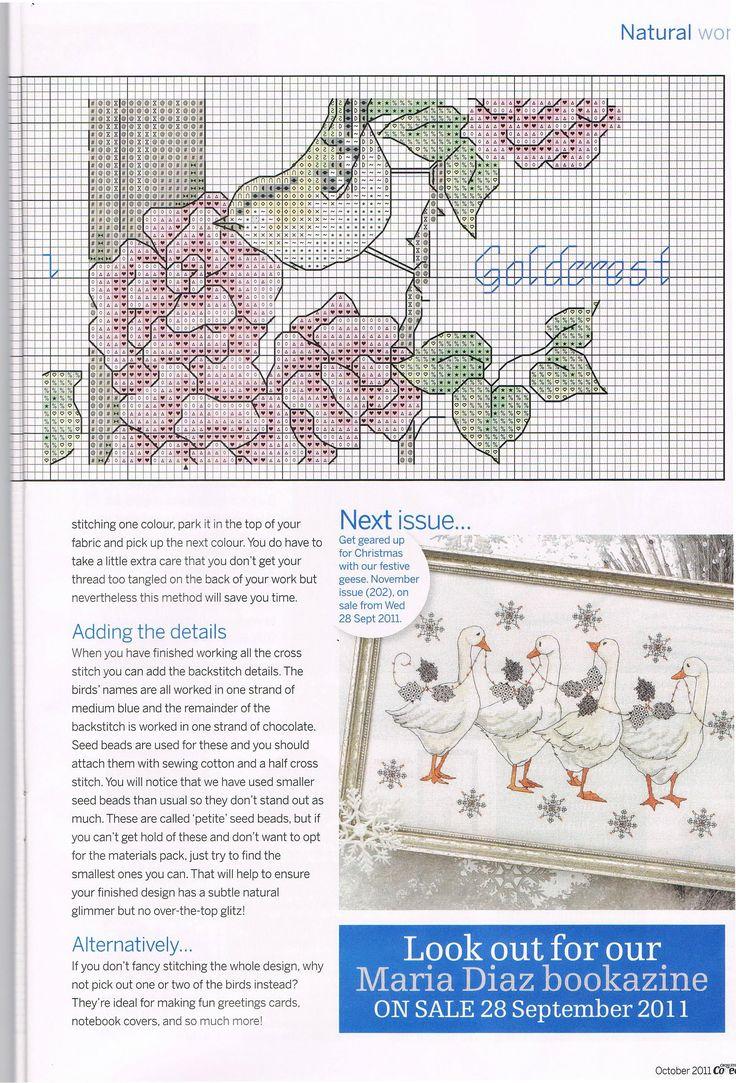 92 best pájaros a punto de cruz images on Pinterest   Cross stitch ...