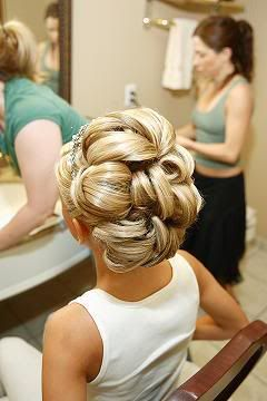 I like this updo for a wedding or something because it is obviously very deliberate and beautiful.