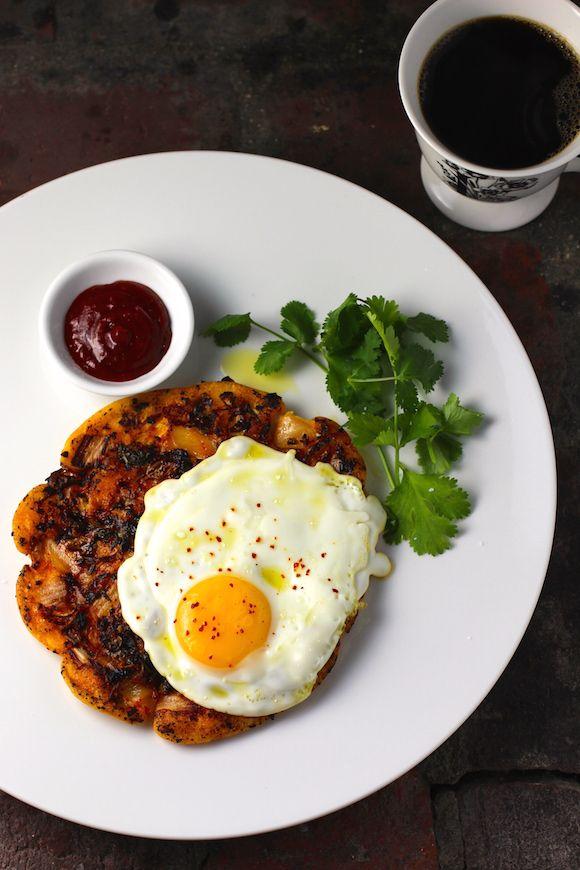 Savory Korean Breakfast Pancake {Breakfast Bindaetteok} #LowCarb #GlutenFree