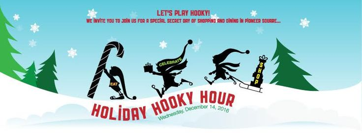 #HolidayHookyHour is on! Eat, shop and celebrate the holidays with us AND enter to win one of our prize packages that feature Seahawks tickets, hotel overnights, restaurant gift cards and much much more. Visit our event on Facebook for all the details.  #pioneersquare #pioneersquareseattle #holidayshopping