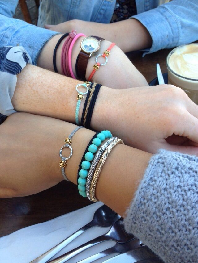 Our gorgeous handmade macrame bracelets. Worn by a gorgeous groups friends travelling Australia