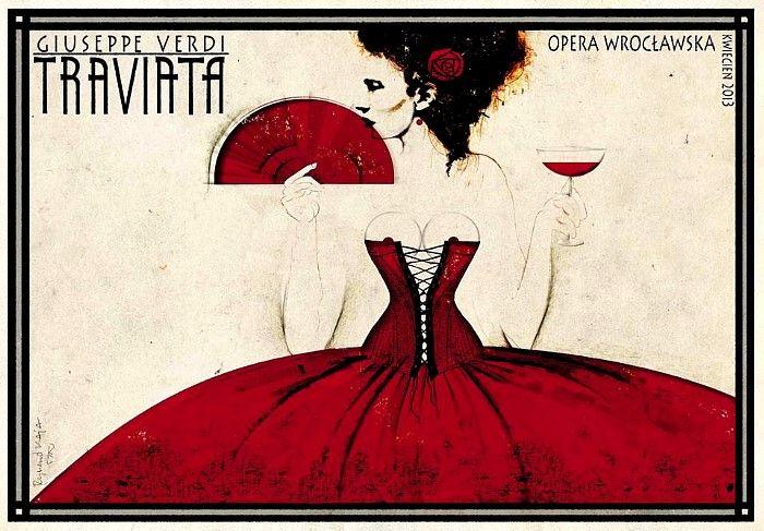 Ryszard Kaja , Opera Poster for Traviata by Giuseppe Verdi, Poland, 2013