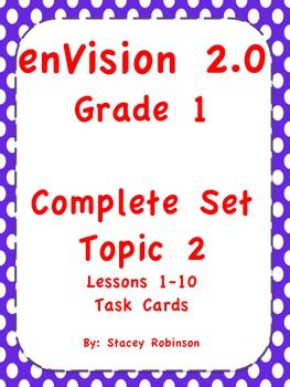 The new enVision math 2.0 is excellent, but has been a bit challenging for my first graders. After looking at the assessments to come, I was very concerned with how my students would fare. I have taught 1st grade math for 20 years now and I have never felt fear over math assessments.So my game plan has been to look at the online test and the test found inside the student edition and then create practice for my first graders.