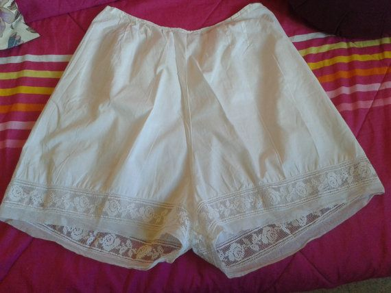 """#Victorian French handmade #lace panties. #Lingerie underwear . Lovely lace and pliers from the 1900's . Roses Design.  Made of white cotton .  Monogram """" JJ"""" embroidered. Bel... #antiquelinen #victorian #frenchlinen #vintage #lingerie #monogram"""