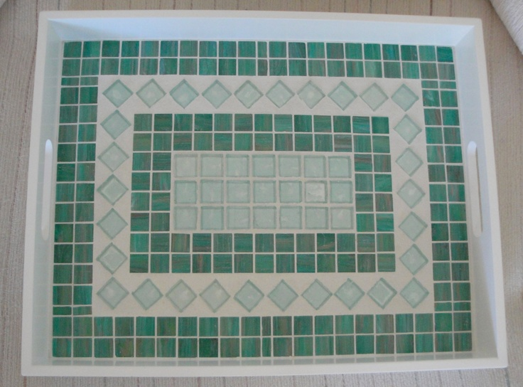 Glass Mosaic Tile Tray
