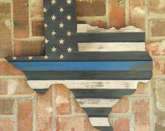 Rustic Texas Thin Blue/Red Line