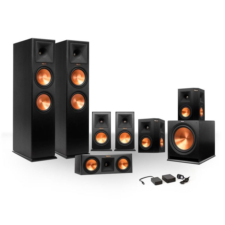 Klipsch 7.1 RP-250 Reference Premiere Surround Sound Speaker Package with R-110SW Subwoofer and a FREE Wireless Kit (Ebony)