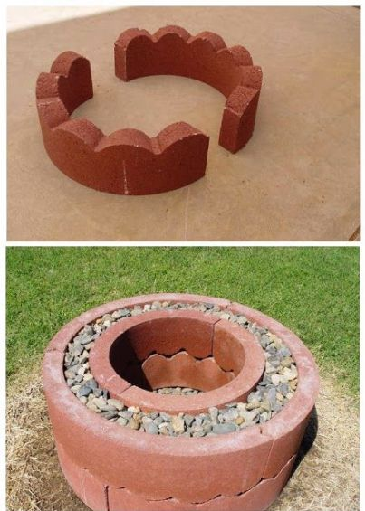 DIY $50 Fire Pit Made From Concrete Tree Rings