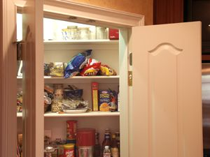 Kitchen Pantry   Automatic On/off Light Switch Button In Door Frame    French Style