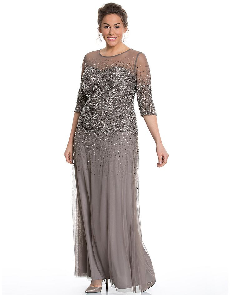 Illusion beaded gown by Adrianna Papell | Lane Bryant
