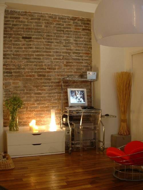 les 19 meilleures images du tableau revetement mur salon sur pinterest architecture briques. Black Bedroom Furniture Sets. Home Design Ideas