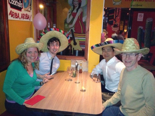 Me and the team in sombreros. Copywriting and startups!